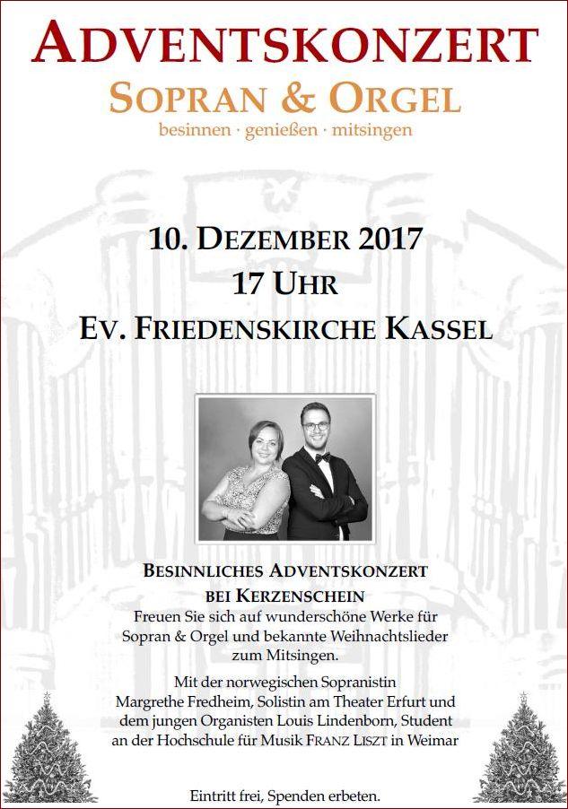 Weihnachtslieder Zum Mitsingen.Adventskonzert Bei Kerzenschein Friedenskirche Kassel